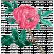 Tea in the Garden Rose Sticker