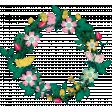 Tea in the Garden Floral Wreath