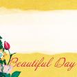 "Tea in the Garden Beautiful Day Journal Card 4"" x 4"""