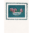 "Tea in the Garden Bowl of Roses Journal Card 3"" x 4"""