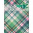 "Tea in the Garden Plaid Journal Card 3"" x 4"""