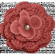 Furry Cuddles Red Flower