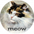 Furry Cuddles Meow Round Sticker