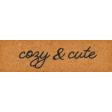 Furry Cuddles Cozy & Cute Word Art