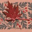 "Furry Cuddles Fall Autumn Journal Card 4""x4"""