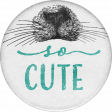 Furry Cuddles So Cute Round Sticker