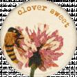 Heard The Buzz? Clover Round Sticker