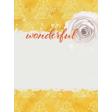 Bloom Revival Wonderful Journal Card 3x4