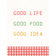 Veggie Table Good Life Journal card 3x4
