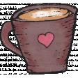 Cozy At Home Doodle Mug
