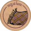 Cozy At Home Round Sticker Blanket