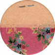 Cozy At Home Round Sticker Floral
