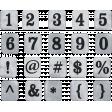 Cozy At Home Tin Alpha Sheet - Numbers & Symbols