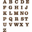Cozy At Home Wood Alpha Sheet - Uppercase