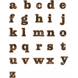 Cozy At Home Wood Alpha Sheet - Lowercase