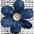 Mulled Cider Dark Blue Flower