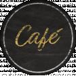 Bistro Round Sticker Cafe