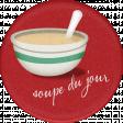 Bistro Round Sticker Soup