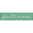 Bistro Word Art Full Cup