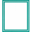 Healthy Measures Teal Photo Frame