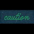 Healthy Measures Caution Word Art