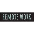 Healthy Measures Remote Work Word Art