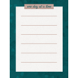 Healthy Measures One Day Journal Card 3x4
