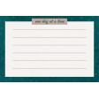Healthy Measures One Day Journal Card 4x6