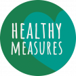 Healthy Measures Print Element Round Sticker Healthy