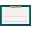 Healthy Measures Print : One Day Journal Card 4x6
