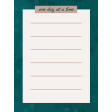 Healthy Measures Print : One Day Journal Card 3x4