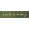 Rustic Wedding Woodland Wedding Word Art