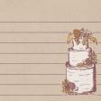 Rustic Wedding Journal Card Cake 4x4