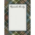 Rustic Wedding Journal Card Plaid 3x4