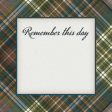 Rustic Wedding Journal Card Plaid 4x4