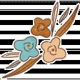 Lets Fika Flowers Sticker