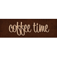 Lets Fika Coffee Time Word Art Snippet