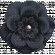 Nana's Kitchen Dark Blue Flower