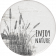 Naturally Curious Enjoy Nature Round Sticker