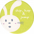 Mulberry Bush Bunny Round Sticker