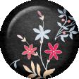True Friend Black Flower Flair