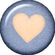 True Friend Blue Heart Flair
