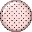 True Friend Light Pink Polka Dot Flair