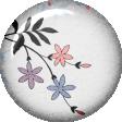 True Friend White Flower Flair