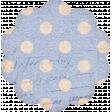 True Freind Mini Kit Element Scrap Ephemera Scallop Blie
