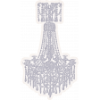 Shabby Chic Chandelier Sticker