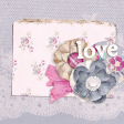 Shabby Chic Journal Card Love 4x4