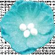 Backyard Summer Element Flower Turquoise