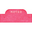 Backyard Summer Element Label Tag Noted