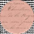 Classy Handwriting Round Sticker